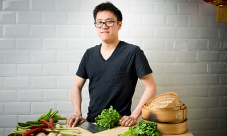 'In Chinese I'm a fan tung, or rice bin. Every meal should come with rice': Jeremy Pang at School of Wok in London.