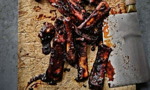 Barbecued hoisin and cola ribs.