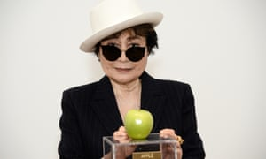 Yoko Ono at the One Woman Show press preview.