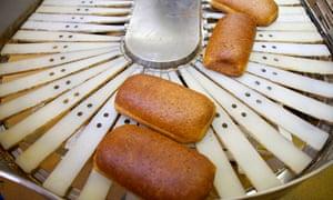 Greggs bread production line