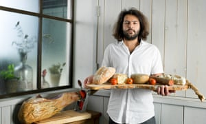 'The thing Iadmire most about the UK is how it grabs everything that is good and makes it its own': Omar Allibhoy with bread, cheese and ham.