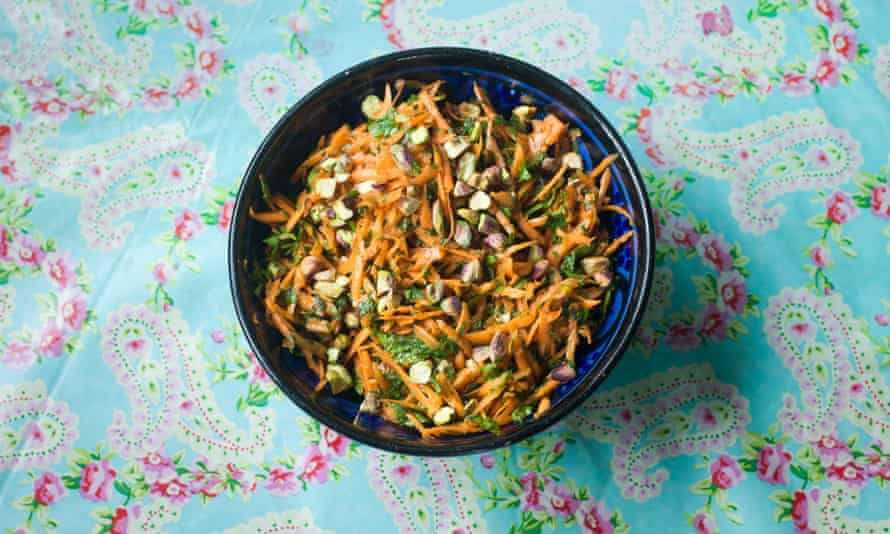 Carrot and pistachio salad.