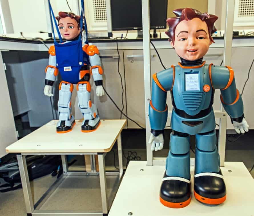 Zeno robots at Sheffield University.