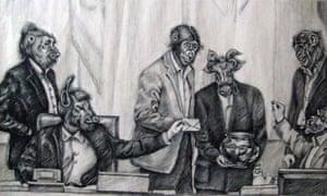 Cartoon by 29-year-old Iranian artist and activist Atena Farghadani.