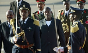 Pierre Nkurunziza, the president of Burundi, is received by his Sudanese counterpart Omar al-Bashir at Khartoum international airport in January 2006. But is the age of the political 'big man' nearing an end?