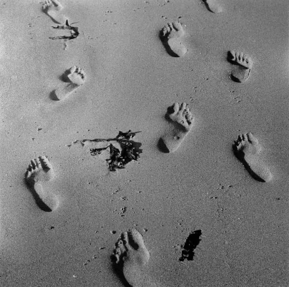 Northumberland. Footprints on Newton Beach. 2004.