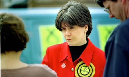Nicola Sturgeon fighting for the Govan seat in the 1997 general election