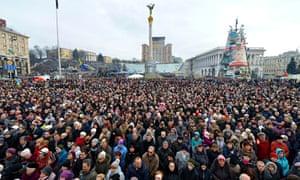 Ukrainian Revolution, Kiev, Ukraine - 23 Feb 2014