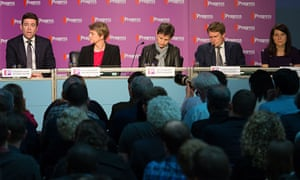 Labour leadership contenders at Progress