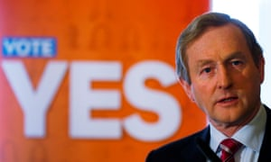 Irish prime minister Enda Kenny speaks at a Yes campaign event on Wednesday.