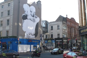 Mural of a same-sex couple in central Dublin.