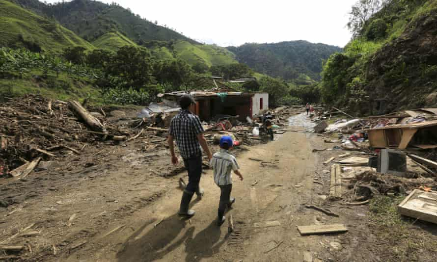 The aftermath of the landslide in Salgar, Colombia, on Wednesday.