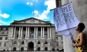Protesters from the Occupy London movement in front of the Bank of England in 2012.