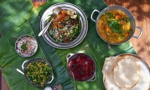 keralan thali feast