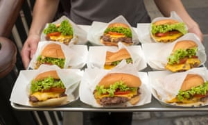 Shake Shack burgers at its Covent Garden store.