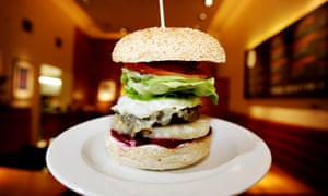 The Gourmet Burger Kitchen's trademark burger since 2001 - the Kiwi burger made up of beef, beetroot, egg, pineapple,cheese, salad, relish and mayo.