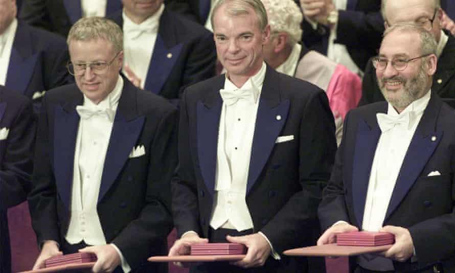 George Akerlof, Michael Spence and Stiglitz receive the Nobel prize for economics.