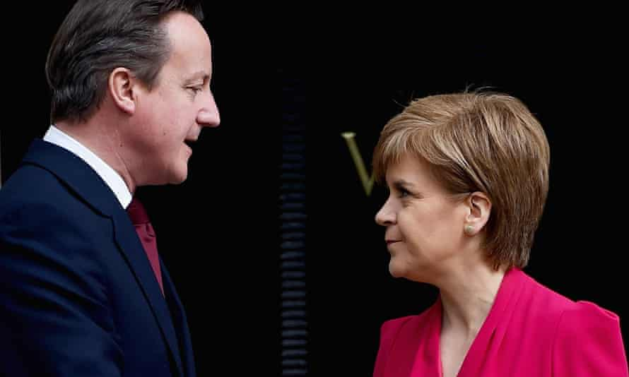 David Cameron with SNP leader Nicola Sturgeon. Stiglitz has been enthusiastic about the SNP's policies.