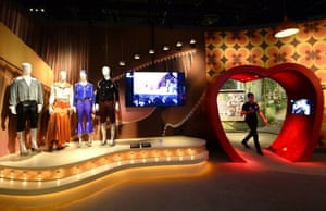The group's Waterloo costumes on show at Stockholm's ABBA museum.