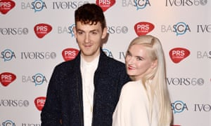Clean Bandit - Jack Patterson and Grace Chatto at the Ivor Novello Awards