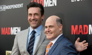 """Jon Hamm (L)and show creator Matthew Weiner attend the """"Mad Men: Live Read & Series Finale"""" held in Los Angeles May 17, 2015"""