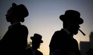 In the southern city of Ashdod in Israel, ultra-orthodox Jews protest against a shopping centre that opens on Saturdays