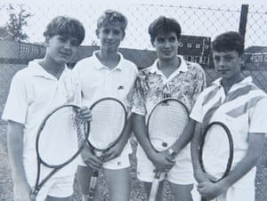 The young Skidelsky with team-mates.