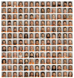 McLennan County Sheriff's Department booking photographs showing men and women arrested and charged with crimes stemming from a mass shootout and fight between biker gangs outside the Twin Peaks bar and restaurant at the Central Texas Marketplace in Waco, Texas, US