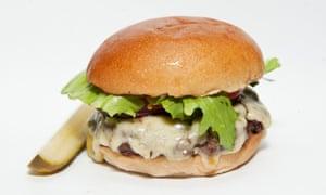 Cheeseburger at Byron hamburgers.