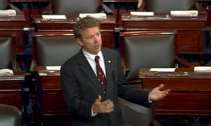 Senator Rand Paul delivering a 10-hour speech against NSA powers of bulk collection.