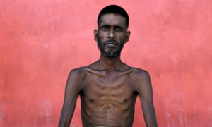 A Bangladeshi migrant who recently arrived in Indonesia by boat, inside a shelter in Kuala Langsa, in Indonesia's Aceh province