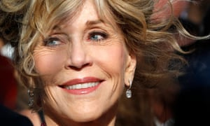 American actor Jane Fonda arrives for the screening of Youth during the 68th annual Cannes film festival, in Cannes, France