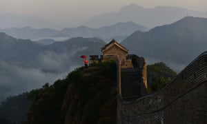 The Great Wall after rainfall in Chende in north China's Hebei province