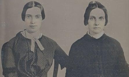 Emily Dickinson (left) and Kate Scott Turner in 1859