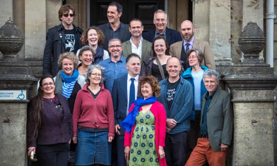 the 17 independent councillors who now make up Frome's town council.