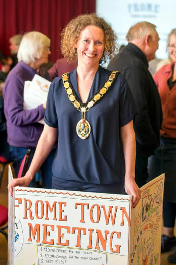 Kate Bielby, new mayor of Frome.