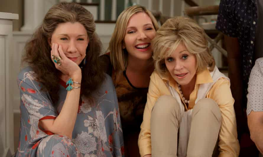 Lily Tomlin, June Diane Raphael and Jane Fonda in the Netflix series Grace and Frankie.