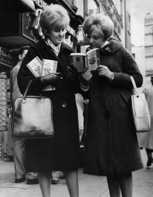 Two women with copies of Lady Chatterley's Lover