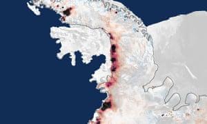 Southern Antarctic Peninsula Ice loss
