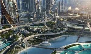 A scene from Disney's movie adaptation of  Tomorrowland