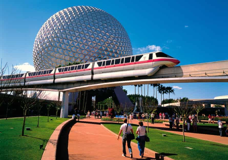 The Epcot Center Disneyworld in Orlando, Florida.