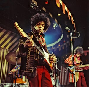 The Jimi Hendrix Experience at the Marquee Club, London, in 1967.