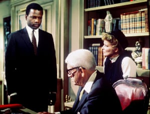 Sidney Poitier, Spencer Tracy and Katharine Hepburn in Guess Who's Coming to Dinner (1967). Photograph: Columbia/Allstar
