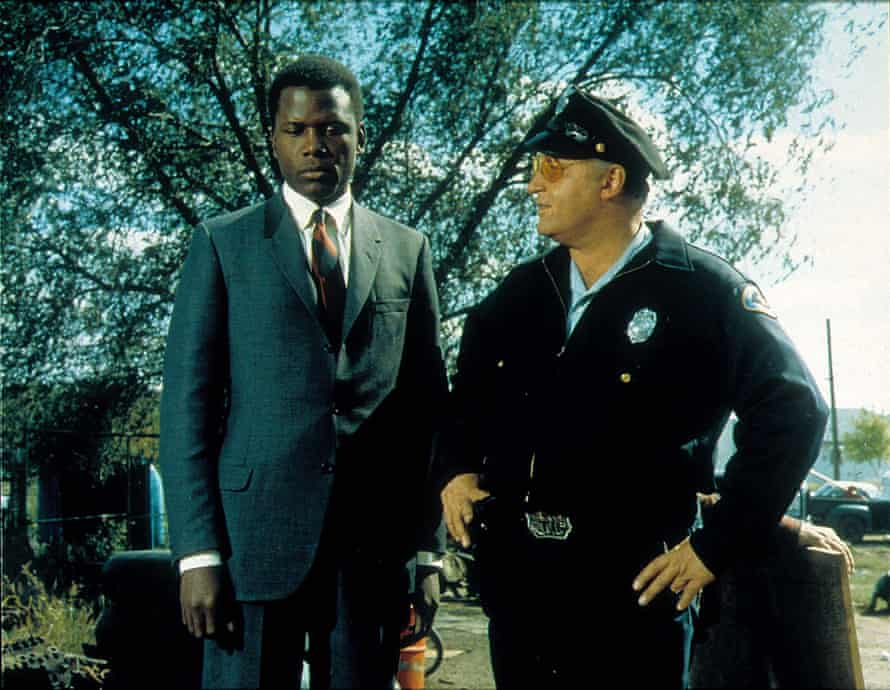 Sidney Poitier and Rod Steiger in In the Heat of the Night. Photograph: Moviestore collection LTD