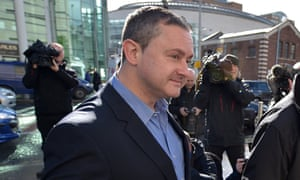 Gareth Lee, a gay rights activist, outside court