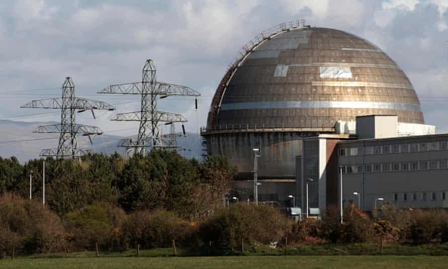 The Sellafield nuclear reprocessing site in Cumbria.