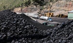 Coal being mined in Utah