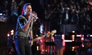Luke Bryan performs on The Voice.