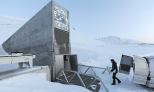Staff member dealing with a new delivery of seeds at the Svalbard Global Seed Vault in Norway.