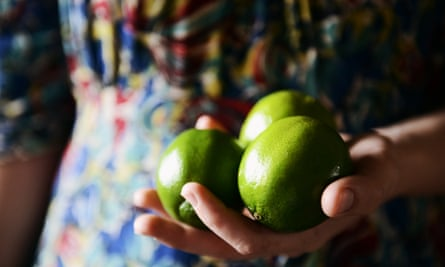Autumn is the best time for harvesting of limes.